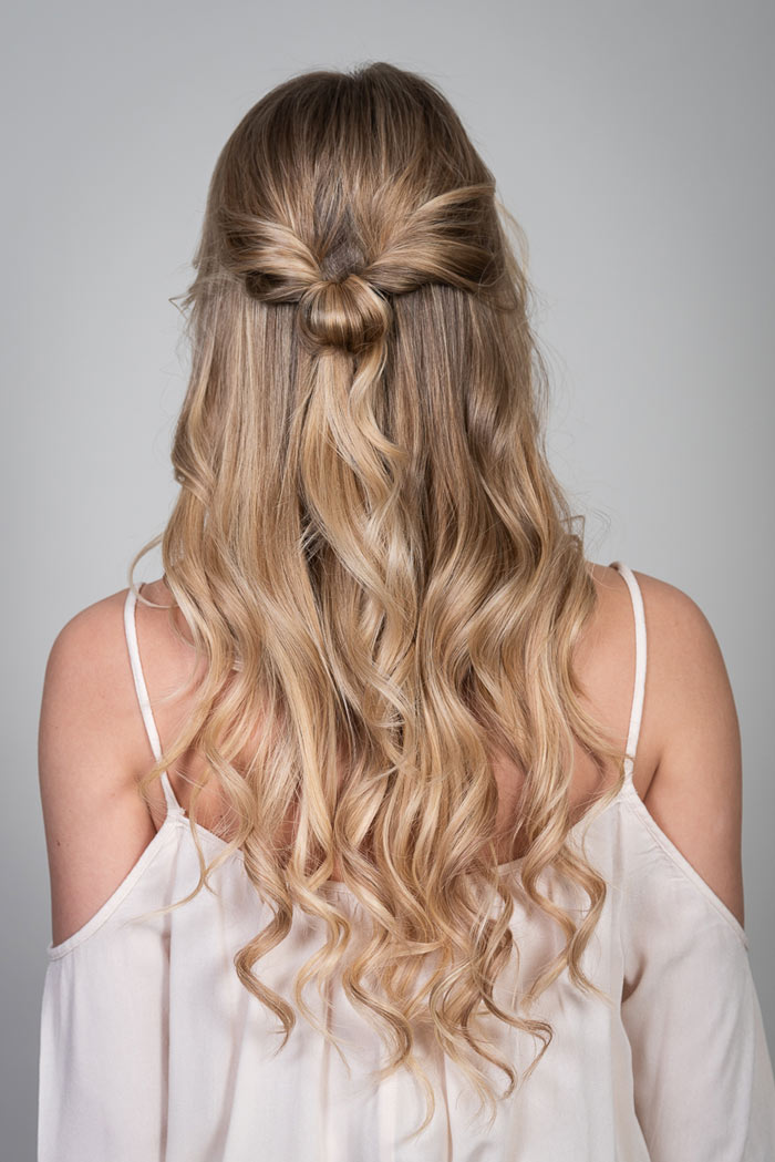 Frisuren Mit Extensions Half Updo Mit Beach Waves Desinas Magazin