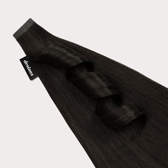 Tape extensions dunkelbraun