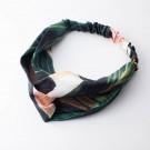 Haarband dunkelgrün mit Muster