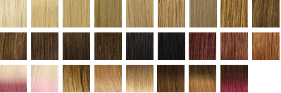 Tape Extensions Farbpalette
