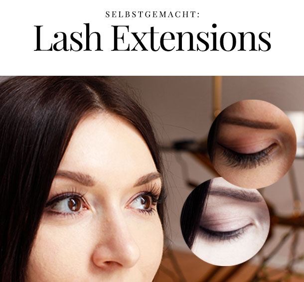 Wimpern Extensions selbermachen