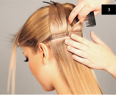 Tape Extensions anbringen