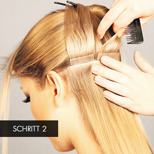 Tape Extensions Step by Step